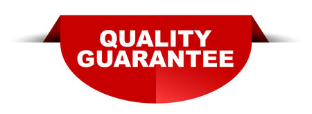 red vector round banner quality guarantee