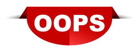 red vector round banner oops Stock Illustratie