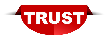 red vector round banner trust