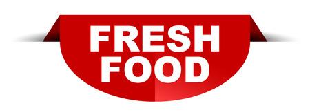red vector round banner fresh food Illustration
