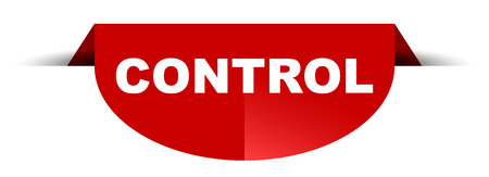 red vector round banner control Illustration