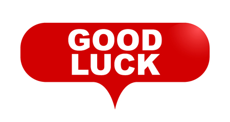 red vector bubble banner good luck Illustration
