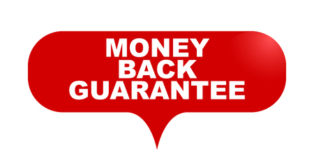 red vector bubble banner money back guarantee