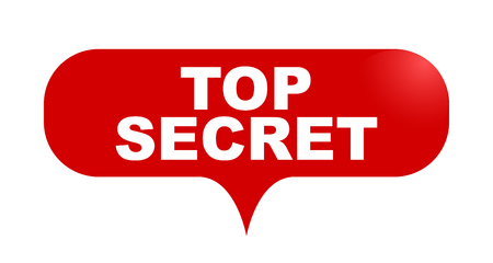 red vector bubble banner top secret