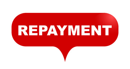 red vector bubble banner repayment