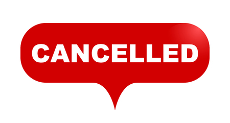 red vector bubble banner cancelled