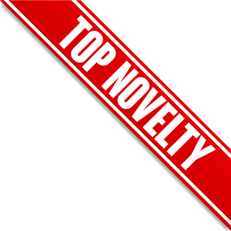 top novelty red banner vector corner