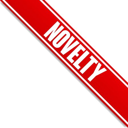 novelty red banner vector corner
