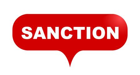 red vector bubble banner sanction Ilustrace
