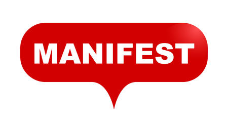red vector bubble banner manifest