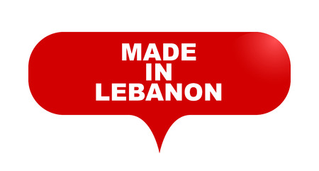 red vector bubble banner made in lebanon Illustration