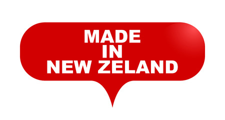 red vector bubble banner made in new zeland