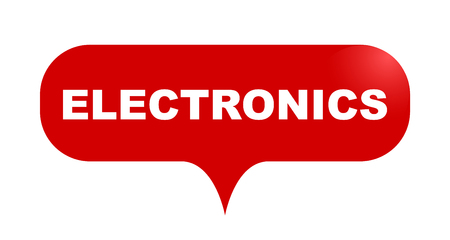 red vector bubble banner electronics