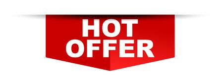 red vector banner hot offer Ilustração