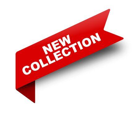 cinta de banner de vector rojo nueva colección