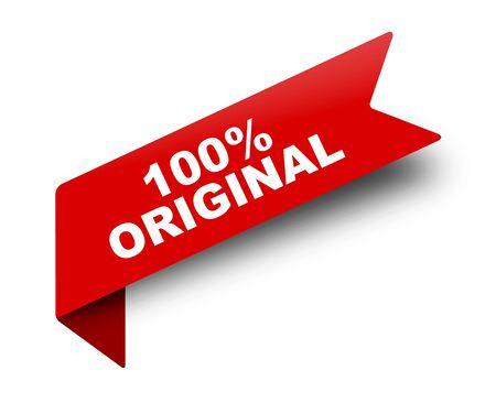cinta de banner vector rojo 100% original Ilustración de vector