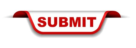 red and white banner submit 일러스트