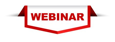 red and white banner webinar