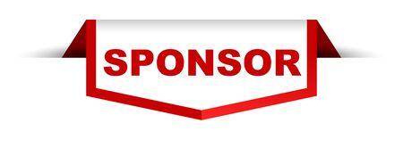 red and white banner sponsor Illustration