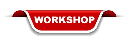 red and white banner workshop