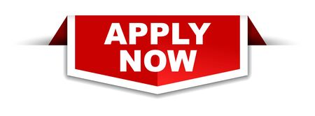 red and white banner apply now