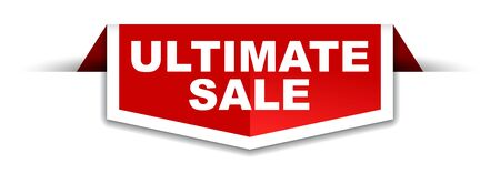 red and white banner ultimate sale