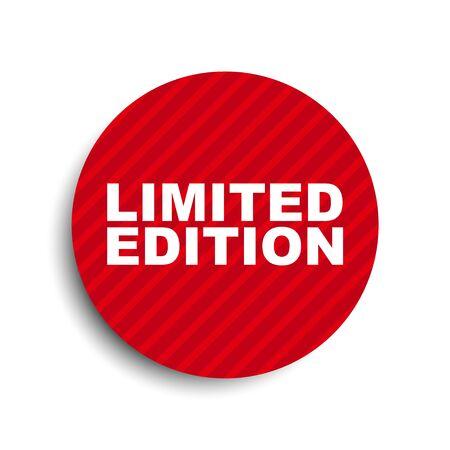 limitowana edycja elementu z czerwonym kółkiem Ilustracje wektorowe