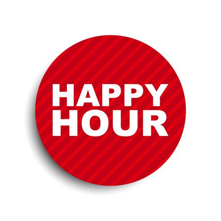 red circle banner element happy hour Banque d'images - 137756715