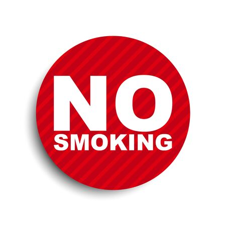 red circle banner element no smoking