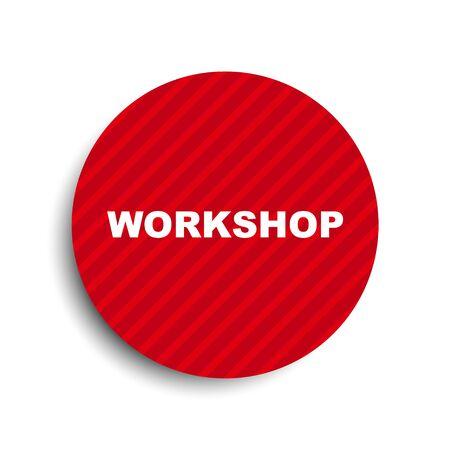 red circle banner element workshop