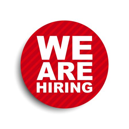 red circle banner element we are hiring