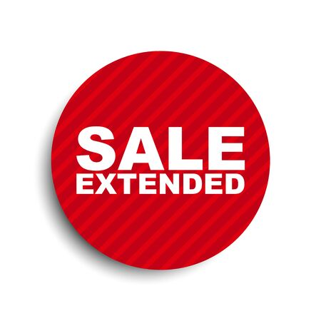 red circle banner element sale extended