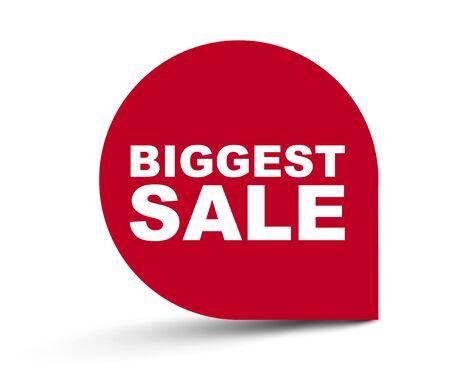red vector banner biggest sale 向量圖像