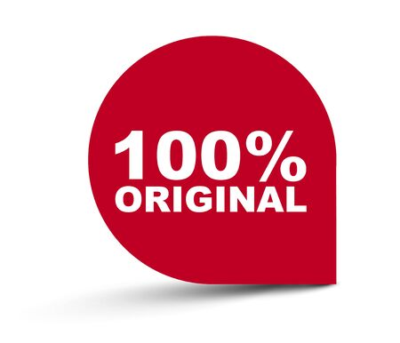 red vector banner 100% original
