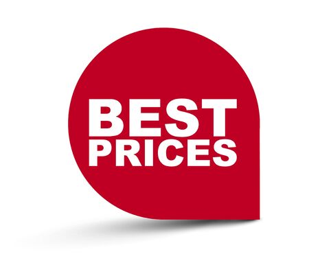 red vector banner best prices