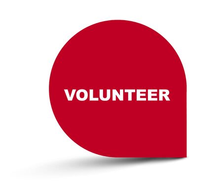 red vector banner volunteer Ilustracja