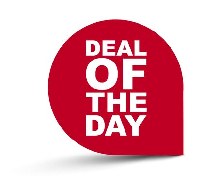 red vector banner deal of the day
