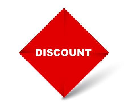 red vector banner discount