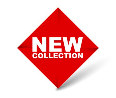 red vector banner new collection