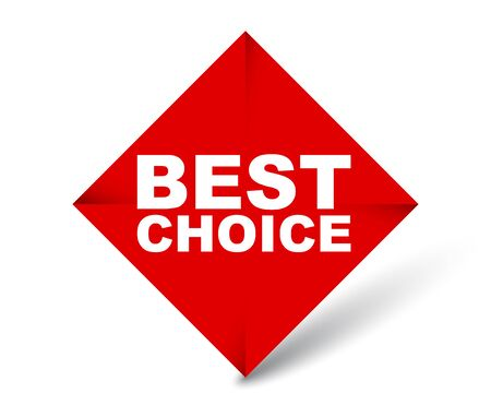 red vector banner best choice