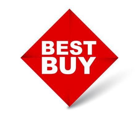 red vector banner best buy