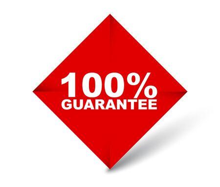 red vector banner 100% guarantee Foto de archivo - 138182743