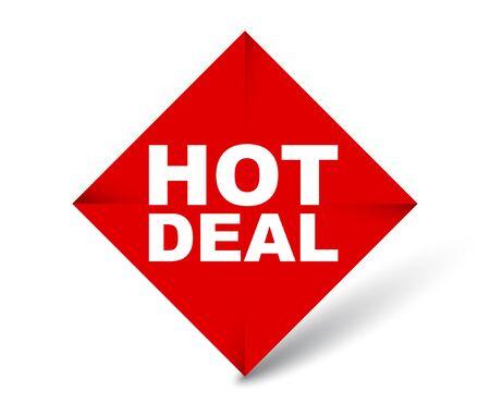 red vector banner hot deal Foto de archivo - 138182746