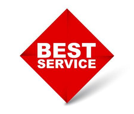 red vector banner best service Foto de archivo - 138182827