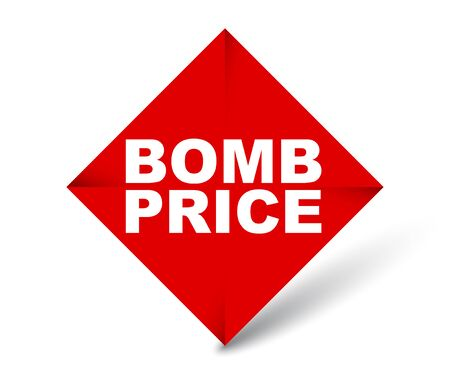 red vector banner bomb price