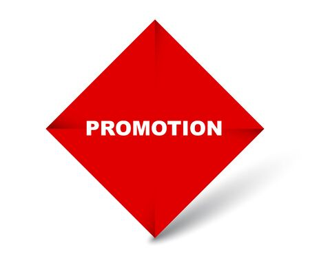 red vector banner promotion Çizim