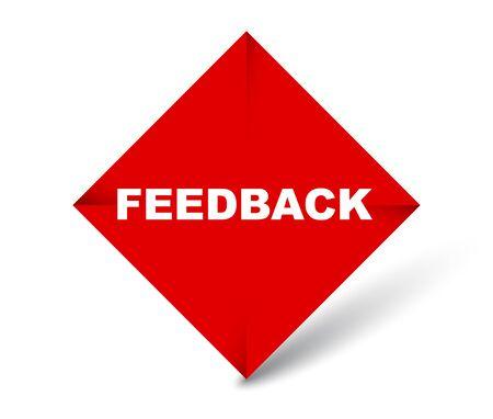 red vector banner feedback