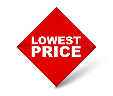 red vector banner lowest price 向量圖像