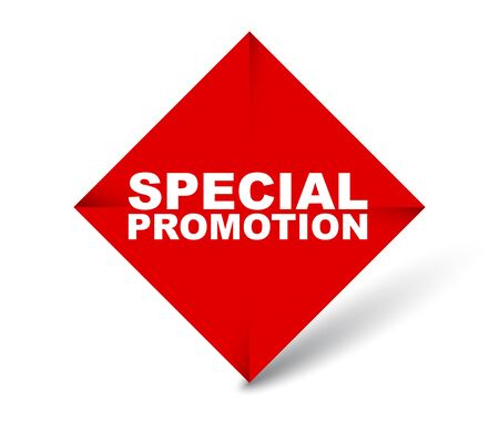 red vector banner special promotion 向量圖像