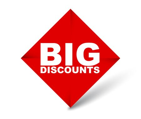 red vector banner big discounts 向量圖像